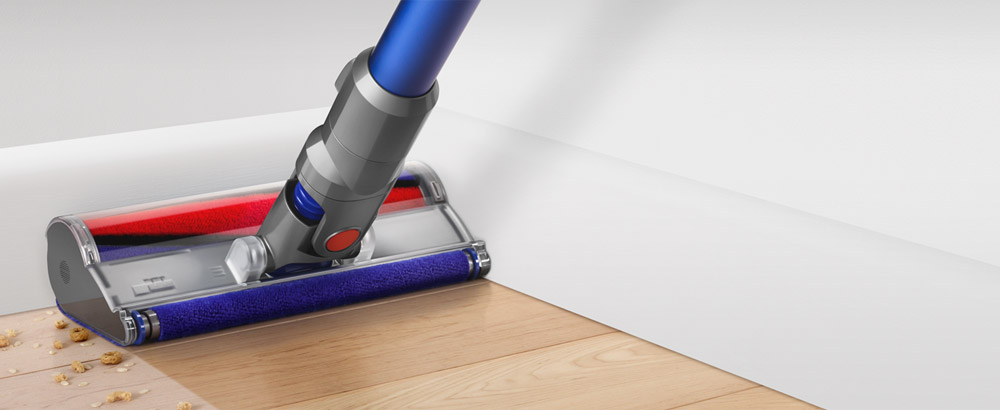 Easy to push across all floors. Cleans right up to edges.