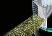 他の空気清浄機とは違い、PM 0.1レベルの微細な粒子を自動で99.95%除去。また、有害なガスも除去します。