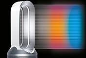 Dyson ピュア ホット + クール 空気清浄機能付ファンヒーターは年間を通して使用できる空気清浄機能