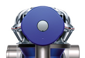 The Dyson V6 Trigger handheld vacuum cleaner. Boost mode. Push button to select power. Provides 6 minutes of higher suction for more difficult tasks.