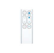 White remote control for Dyson Cool™ fans.
